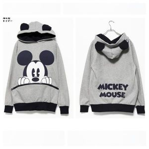 Mickey Mouse Hoodie is like new. Size Large